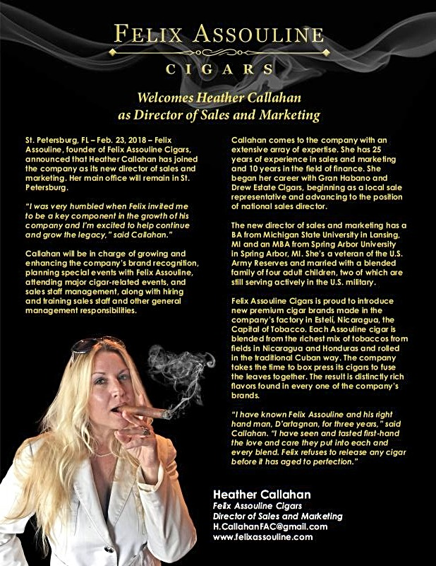 Heather Callahan Press Release